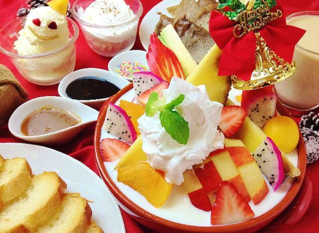 画像: X'mas限定スイーツ「ホワイトチョコのフルーツ鍋~マスカルポーネホイップ仕立て~」はいかが?