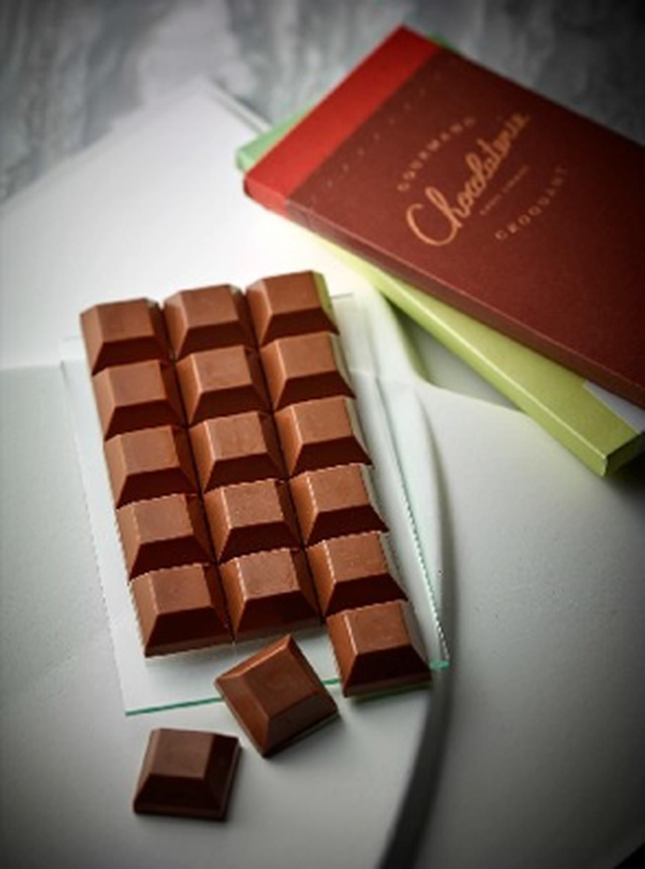 画像: ■ラ・ショコラトリー シリル・リニャック/ミルクのボンボンチョコレート〔18個入〕 3,996円 タブレットのようなパッケージに小粒のボンボンショコラを詰めました。