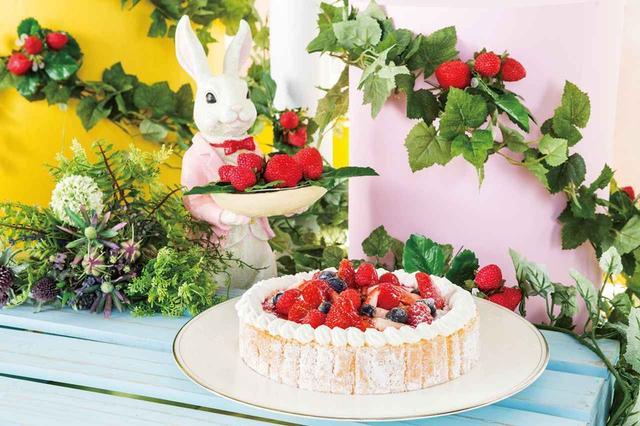 画像: 「ゆめかわ」な苺畑に遊びに来た白うさぎ達