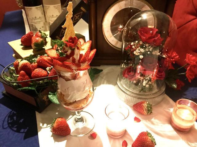 画像: 野獣の薔薇の苺パフェ 1300円