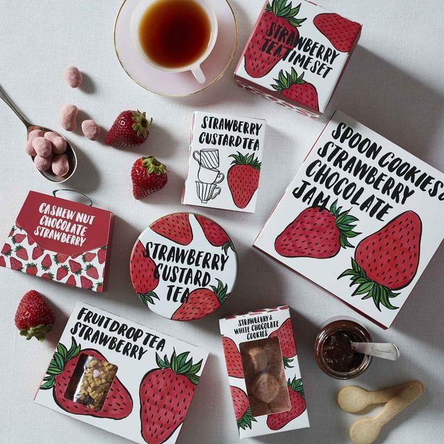 画像: SHOGO SEKINEさんとコラボ!苺柄の紅茶やお菓子も登場