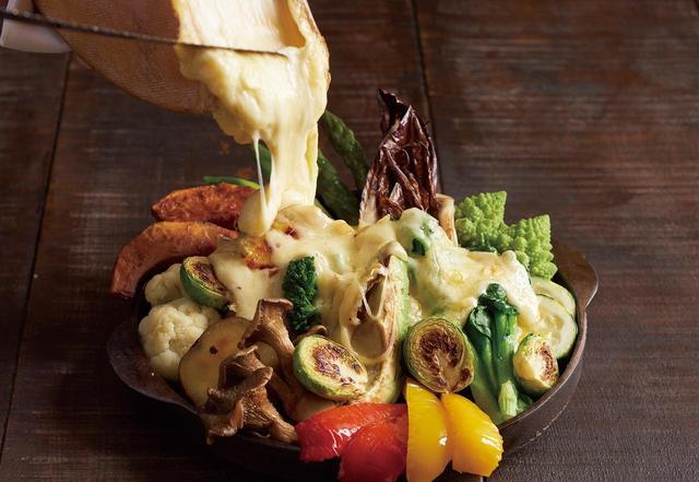 画像: 熱々!キハチの温野菜 トリュフ香るふわとろチーズエスプーマフォンデュ