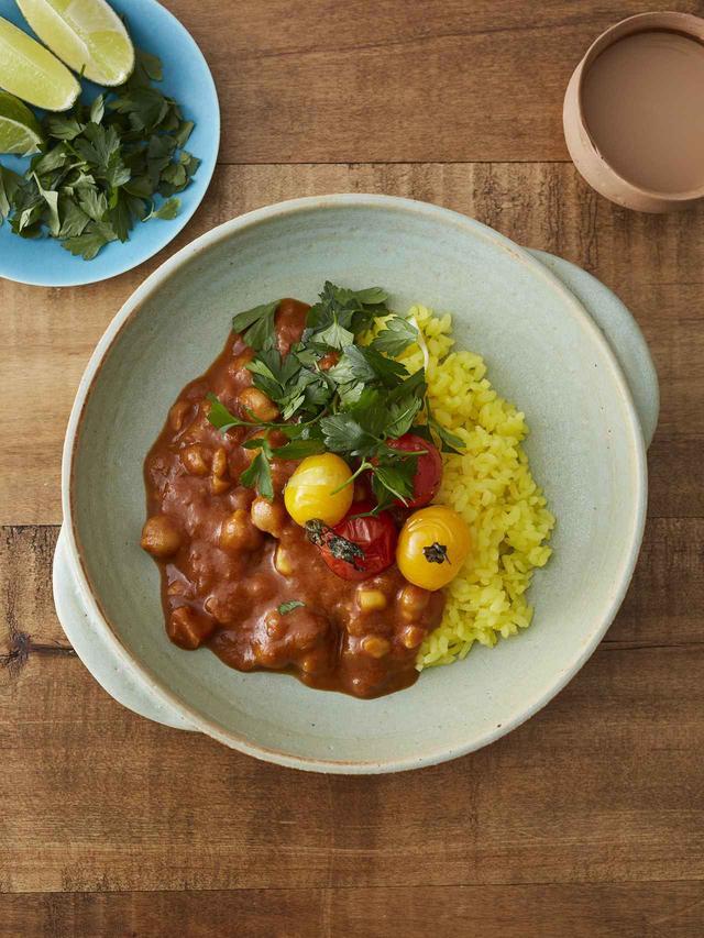 画像: アレンジ例 ひよこ豆と野菜のカレー