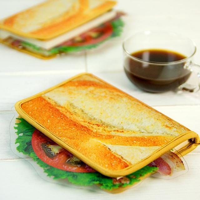 画像2: 一見、サンドイッチ。だけど、これブックカバーなんですw