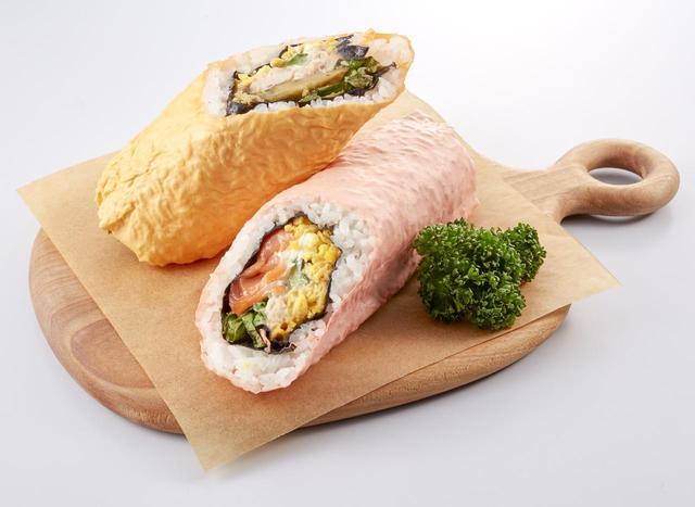 画像: 女性に人気のサラダ専門店「サラダカフェ」の恵方巻き。カラフルな大豆シートによる、可愛いさも特徴。 <サラダカフェ> 恵方巻きセット 1本 829円