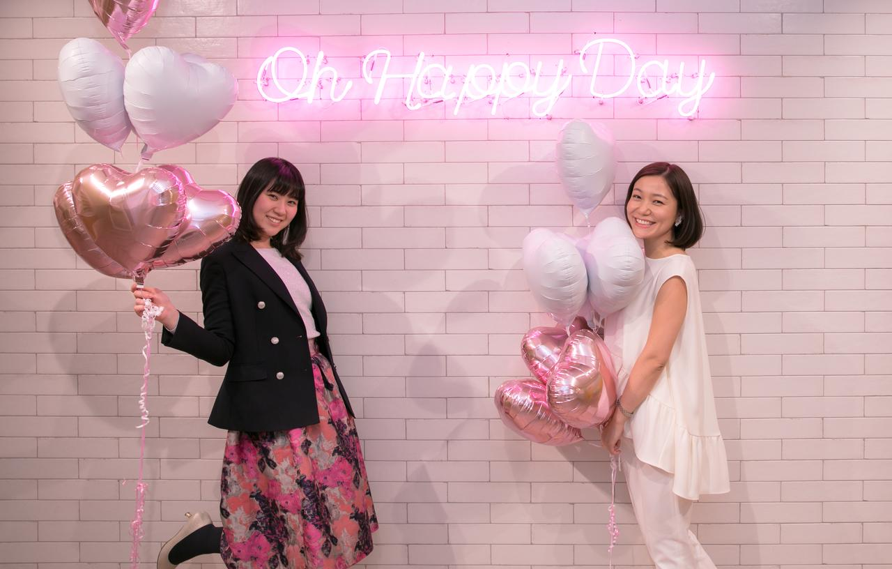 画像: 白い壁×ピンクのネオンでオシャレに♪