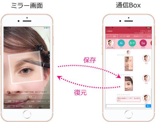 画像2: 新発想!なりたい顔を重ねてなぞるミラーアプリ「トレミラ(Tracing Mirror)」