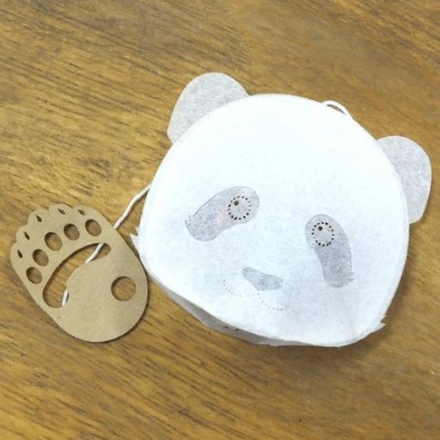 画像: 【ocean-teabag】愛されパンダのティーバッグ(フルーツティー苺/4p)
