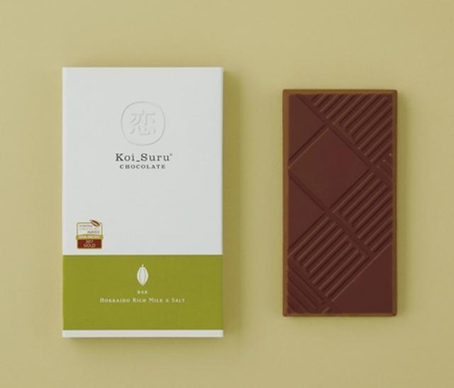 画像: ■北海道贅沢ミルクチョコレートと塩 白い恋人ブラックのミルクチョコレートをベースに、北海道サロマ湖水100%の塩を練りこみました。粒を感じるあら塩がチョコレートの甘みを引き立てます。 【アメリカ&アジア太平洋大会 金賞】