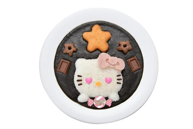 画像: ハートフルハローキティのチョコ黒カレー ¥1,300