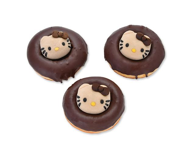 画像: ハローキティのチョコ大福ドーナツ ¥500