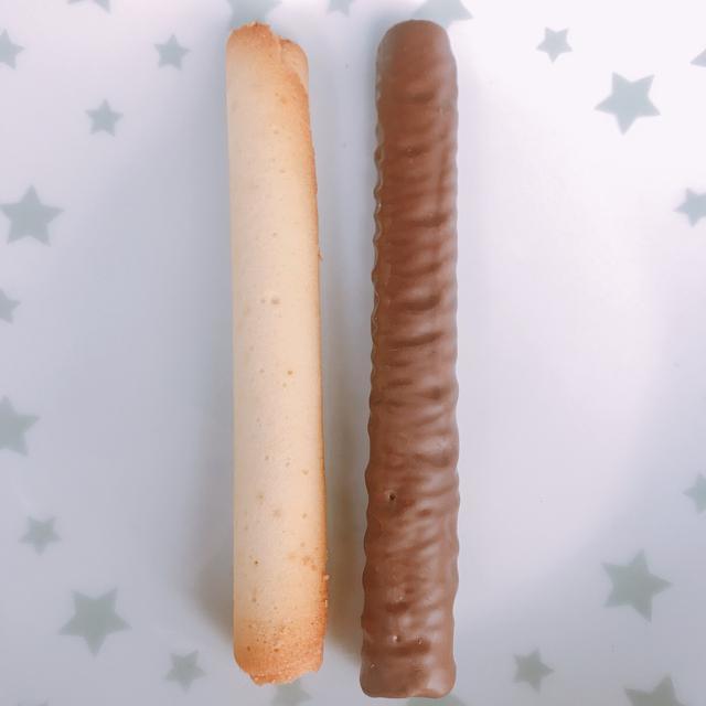 画像: (左)既製品のシガール(右)ショコラ シガール