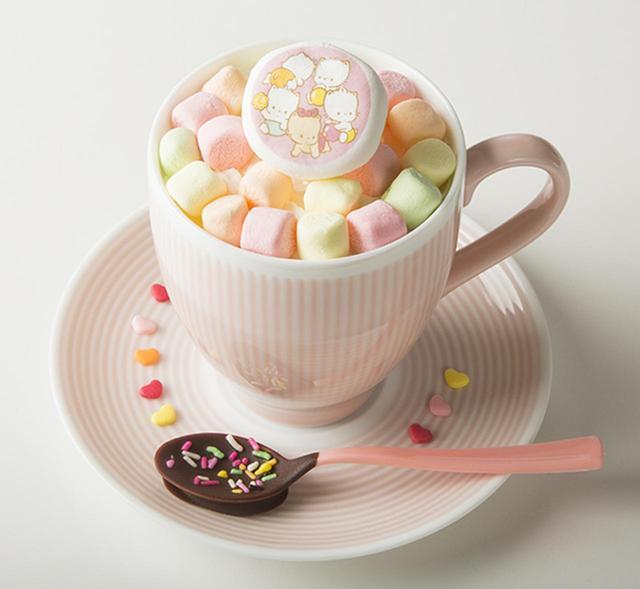 画像: ニャニィニュニェニョンのマシュマロメルティチョコミルク ¥790+税