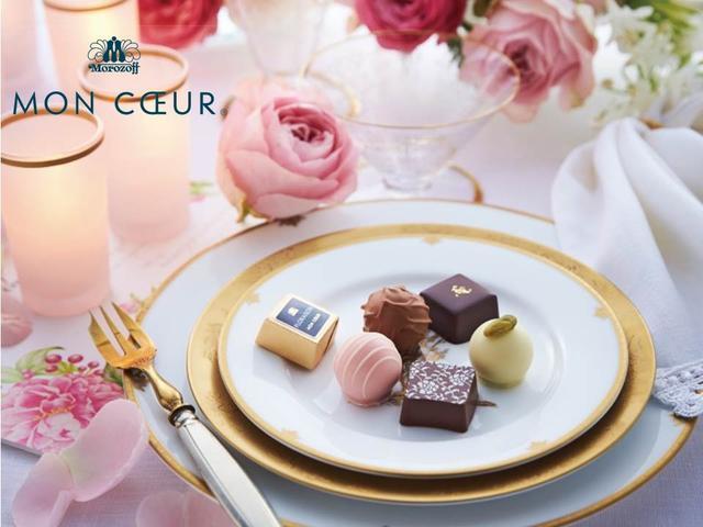 画像: ―フロレゾン― ピンクの薔薇とリボンをあしらったボックスに、トリュフやファンシーチョコレート、ナッツ入りのチョコレートなど、さまざまな味わいを詰め合わせた高級感ある華やかなチョコレートギフトです。 ●21個入 2,160円(税込) ●16個入 1,620円(税込) ●11個入 1,080円(税込) ● 6個入 540円(税込)
