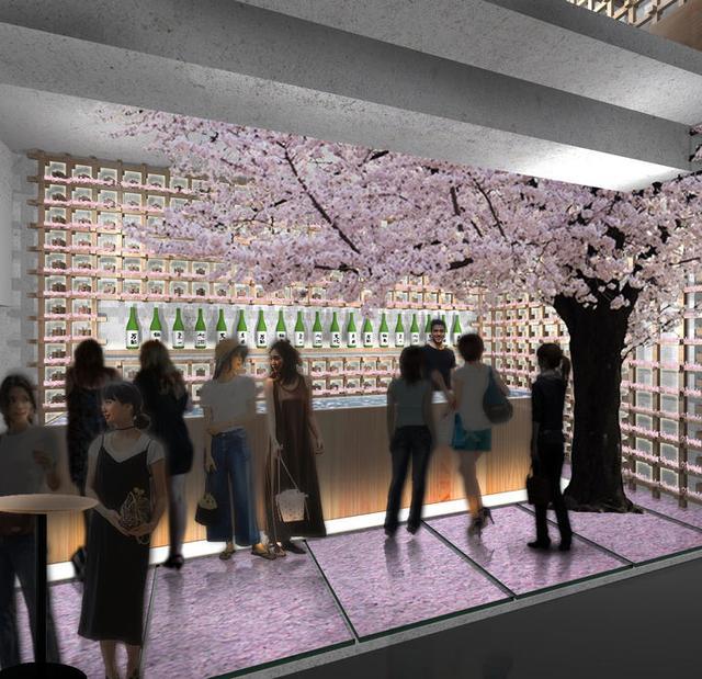 画像2: 【行きたい!】桜の花びらに埋もれながら佐賀の日本酒を飲む!? 桜舞い散るチルアウトバーが表参道にオープン!