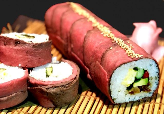 """画像: 神戸牛の""""肉""""恵方巻きで福を呼ぶ!"""