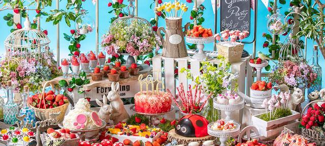 画像: 「いちごに恋するガーデンパーティー」 ~ストロベリーデザートブッフェ~お花畑でつかまえて!   お台場のホテルなら【ヒルトン東京お台場】