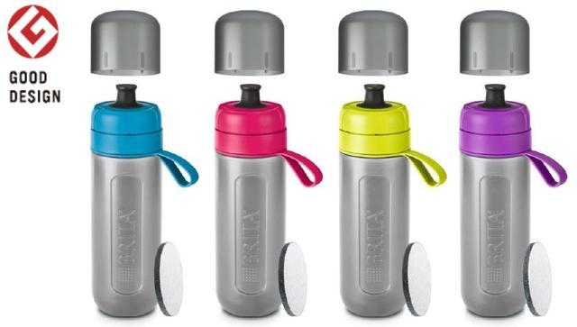 画像1: スクイーズタイプのボトルでゴクゴク飲める!浄水フィルター付きボトル「fill&go Active」登場