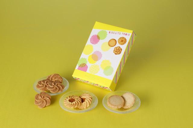 画像: かたち、厚み、食感、香り、そして味わい。 小さくても個性豊かな菓子としてそれぞれにふさわしい素材を吟味して焼き上げたビスキュイ3種類の詰め合わせです。