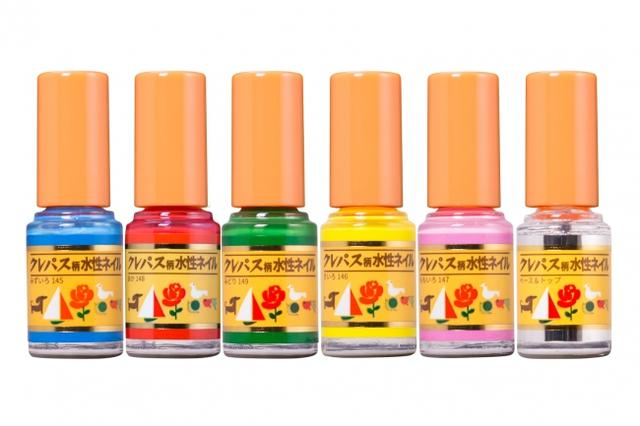 画像: 商品名:クレパス柄水性ネイル(Aセット) VIVIDカラー5色+トップ&ベースコート 販売価格:3600円(税抜) 内容量:各2.2ml
