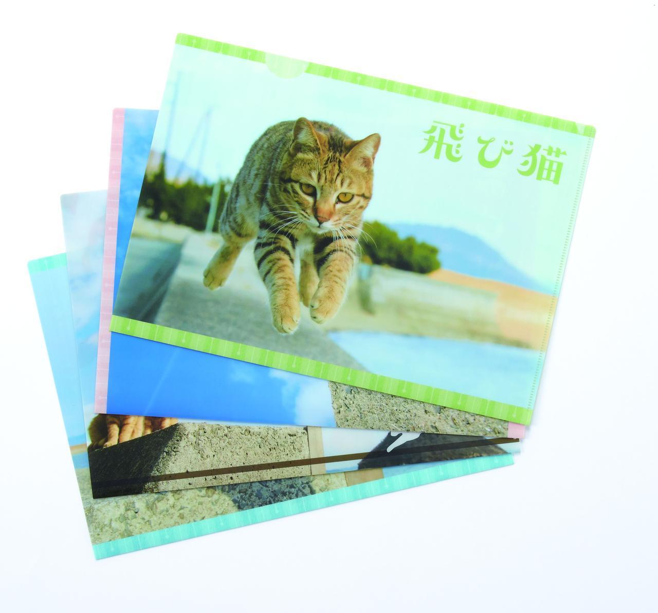 画像: ▲五十嵐健太 「飛び猫クリアファイル」各378円