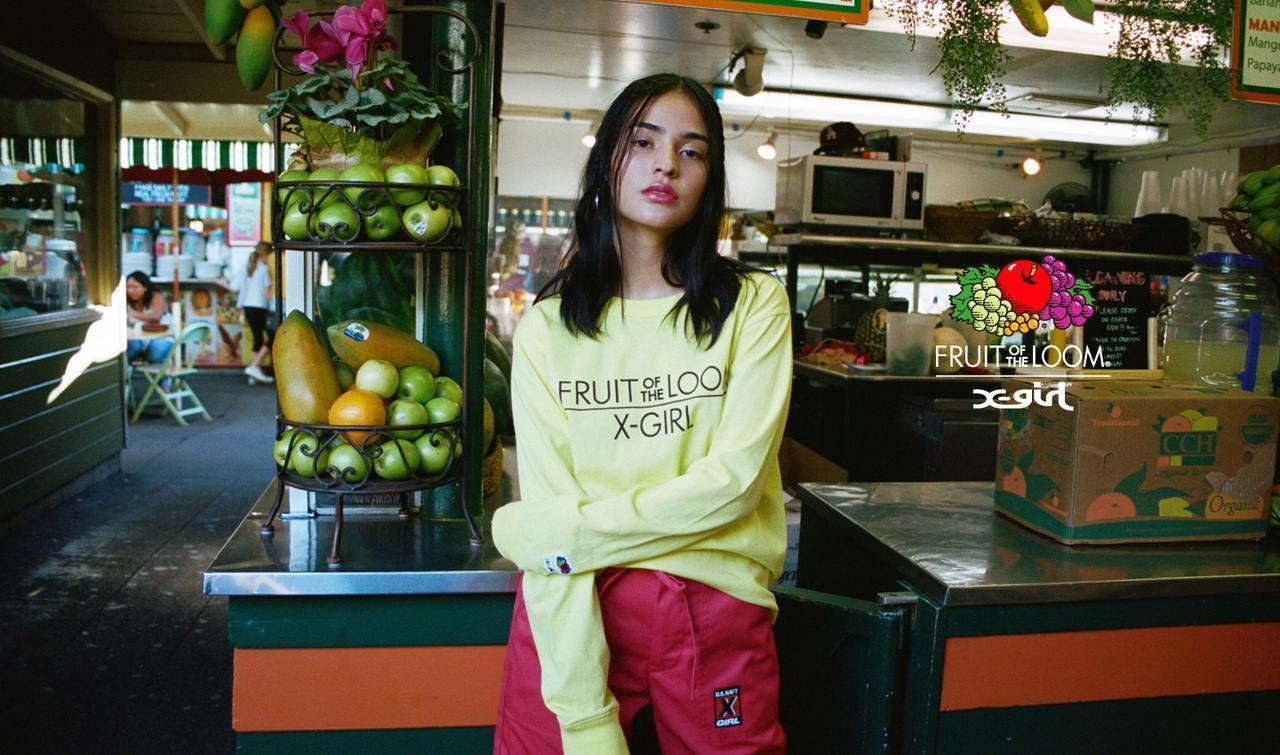 画像1: X-girl × Fruit of the Loom、初となるコラボレーションコレクションをリリース