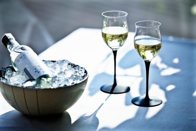 画像2: 絶景の山床カフェでオリジナルスパークリング日本酒や発酵かき氷を楽しむ
