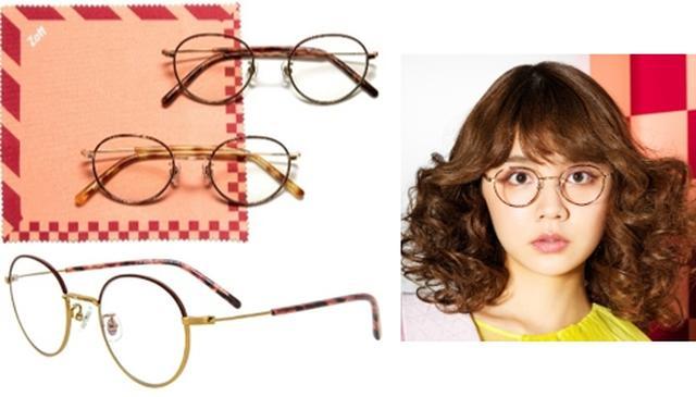 画像: 村田倫子 細めのメタルフレームのメガネが欲しくて、今回コラボで形にしました。普段のコーディネートにすっと溶け込み、よりスタイリッシュな印象を引き出すデザインにしています。