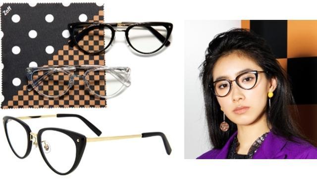 画像: 中田クルミ ヴィンテージのメガネを参考に形を考えました。レトロ感を出すためににエッジの部分に少しだけ飾りを入れたり、あえてネジを見せたりしています。フレーム部分の形はこだわりを詰めこみました。 キャットアイだけど主張が強すぎず、キャットアイ初心者でもかけやすい。多くの人に手に取ってもらえるような形を意識しました。