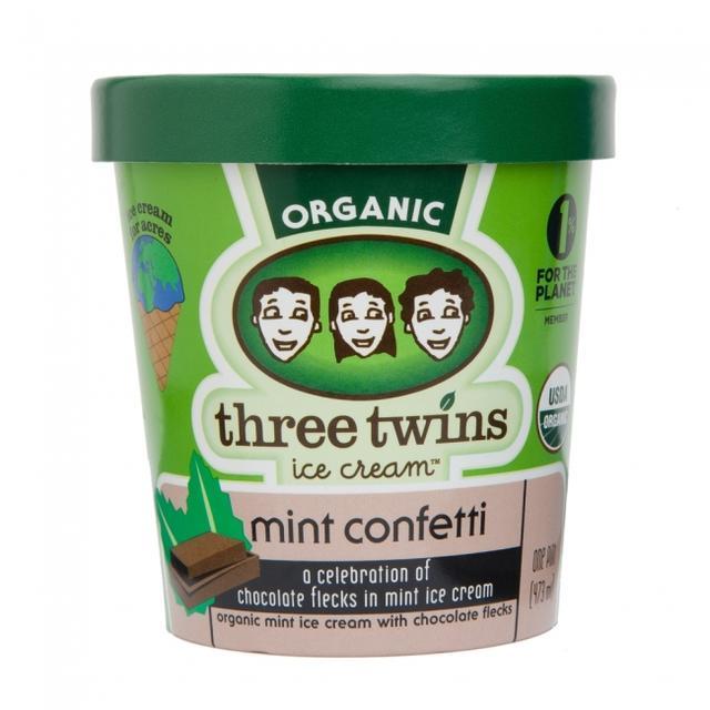 画像: ミントコンフェティ 着色料不使用のミントアイスクリーム。 フレッシュで香り豊かなオーガニックミントをマダガスカルバニラと合わせ、ビターチョコレートチップを加えた、大人も子供も楽しめる爽やかな味わい。
