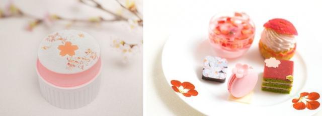 画像: 「桜フローズンスフレ」 800円 ザ・リッツ・カールトン東京の新メニュー。アイスクリームのように冷たくてクリーミーなスイーツが登場します。焼いて膨らんだスフレの形をまねたこのお菓子は、口に入れるとスッと溶ける軽い口当たり。桜の香りがポイントです。