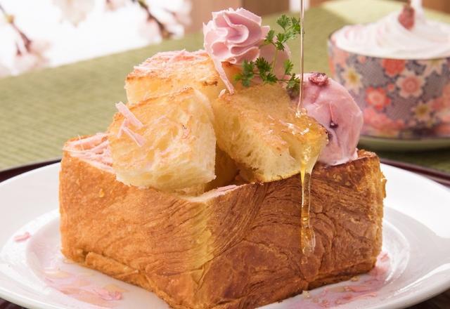 画像: 桜薫るキュートなハニートースト「桜ハニートースト」税込800円