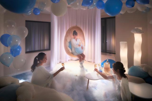 画像2: 雲のふわふわ感を体感できる「雲スイートルーム」で盛り上がる「雲パーティー」