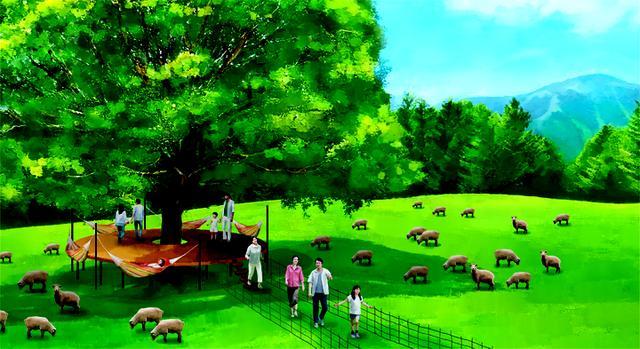 画像2: 本物の羊を数えながら、うとうとできる新スポット 「羊とお昼寝ハンモック」が登場