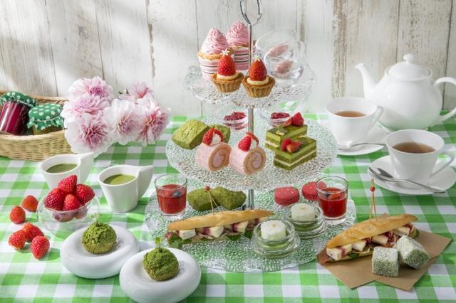 画像1: 新緑の季節を先取り!「苺と抹茶のアフタヌーンティー」