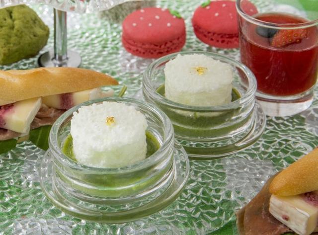 画像4: 新緑の季節を先取り!「苺と抹茶のアフタヌーンティー」