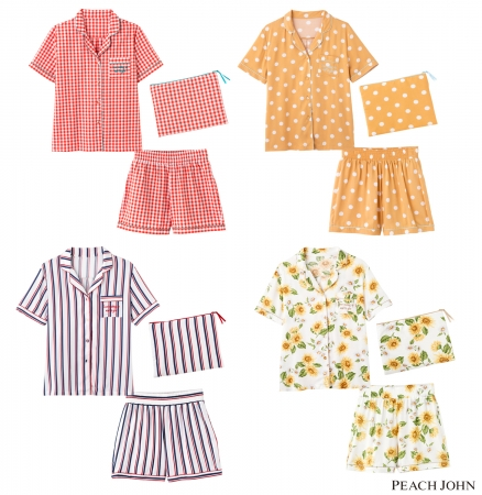 画像: サマーシャツパジャマセット 5,480円(+税) サイズ:S/M、M/L カラー:フラガール、ギンガム、ドット、ストライプ、フラワー(全5色)