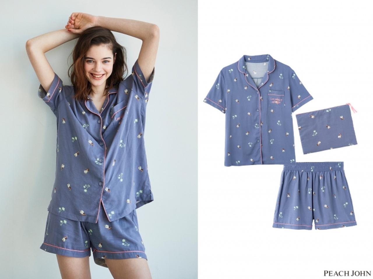 画像1: 人気のシャツパジャマも春夏気分に♡