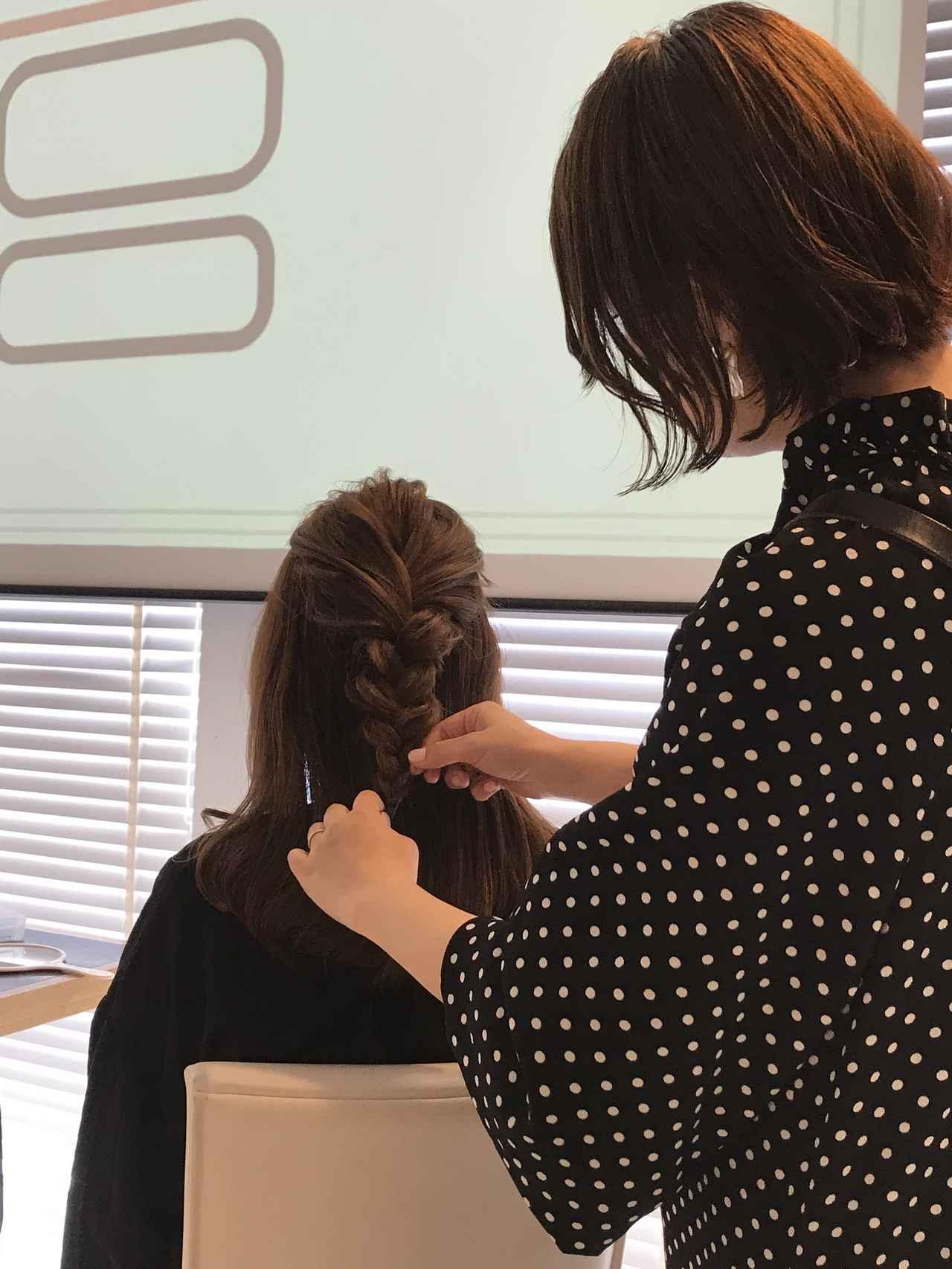 画像2: SHOKOさんによるヘアアレンジ講座開催