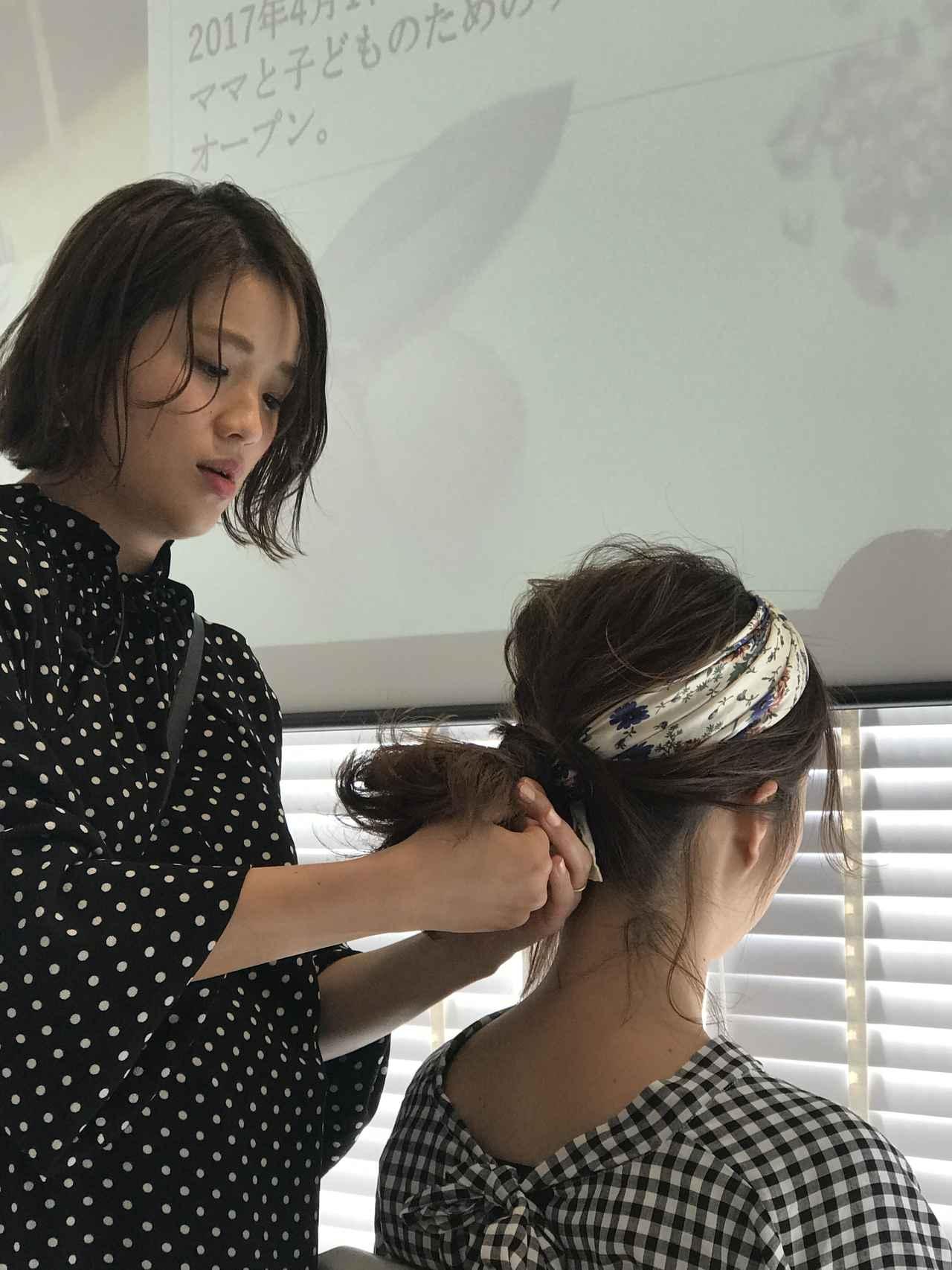 画像1: SHOKOさんによるヘアアレンジ講座開催