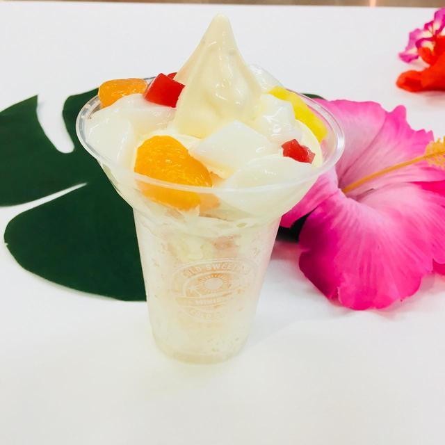 画像: 杏仁シロップ×マンゴー果汁でフルーティーな香りが…。暑い時期にもピッタリなハロハロです