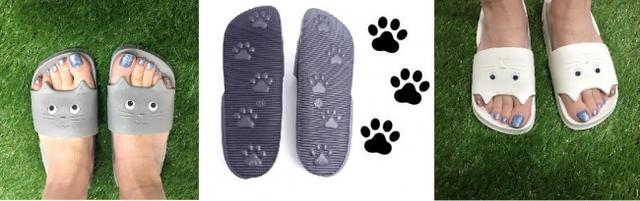 画像3: ネコを履いてお散歩「キャットサンダル」