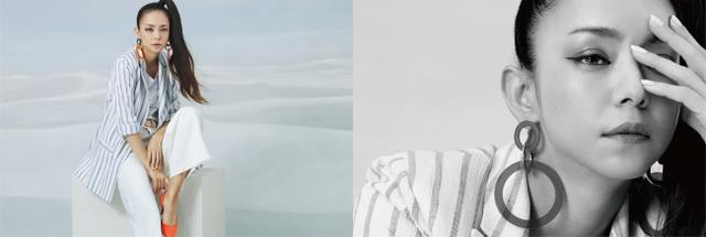 画像: ストライプジャケット:7,499円、Tシャツ:1,299円、ホワイトパンツ:4,999円、ピアス、ブレスレット:参考商品、ベルト:699円、パンプス:4,499円