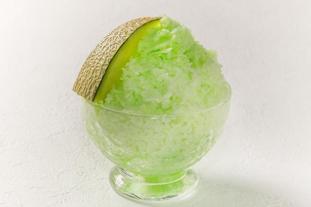 画像: 「メロンかき氷」¥500 …パティシエ特製のメロンソースを使ったメロンかき氷。