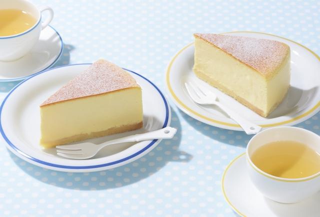 画像: 「サマーベイクドチーズ」 [NEW] 価 格: ¥390(税込¥421) 販売期間: 2018年5月14日~9月6日頃 特 長: オーストラリア産クリームチーズとフランス産クリームチーズを使用。メレンゲを入れて、口どけ良く仕上げました。コクがあるのに軽い食感!夏においしく食べられるチーズケーキです。