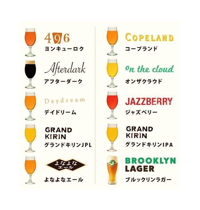 画像: <クラフトビールがさらに充実> アラカルトメニューのクラフトビールは昨年の3種類から10種類に増え、お好みや料理に合わせて選ぶ楽しみを演出いたします。(各750円)