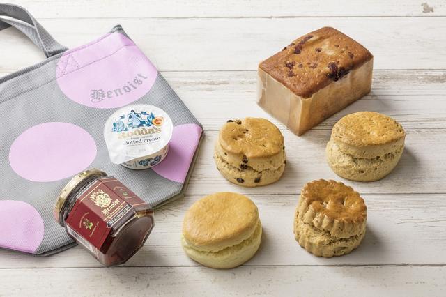 画像: 『ベノア』(東京) 期間:5月26日(土)~29日(火) 職人による手作りのスコーンや、イギリスから直輸入したクロテッドクリーム、インド・スリランカなどの産地から直送している紅茶などを展開。スコーンやクロテッドクリームなど人気商品を詰め合わせた「ベノアお楽しみ袋」(2,160円/1袋・限定50袋)などを販売します。