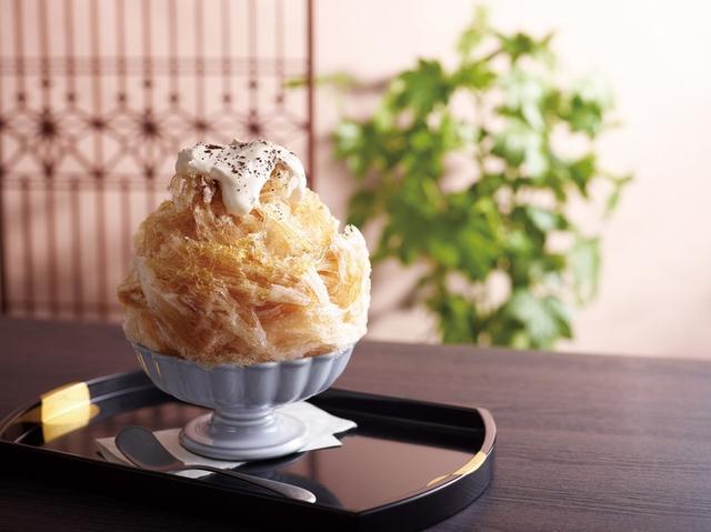 画像: 貴重な天然氷を使用した「珈琲かき氷」
