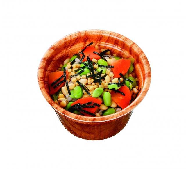 画像: ■お茶づけ風もち麦スープ 本体価格200円(税込216円) お茶づけの風味と相性の良いもち麦や豆類が入ったスープです。ヘルシーなもち麦と豆類を入れることで、一杯でおなか満足なボリュームに仕上げました。