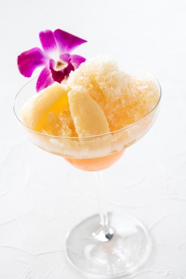 画像: 「桃とジャスミンティーのかき氷」